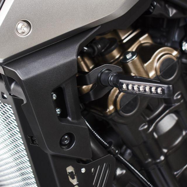 Honda CB650R turn signals relocation kit