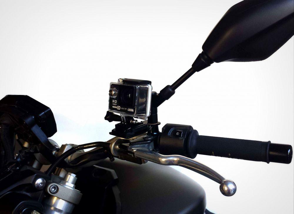 Support pour action cam sur retroviseur