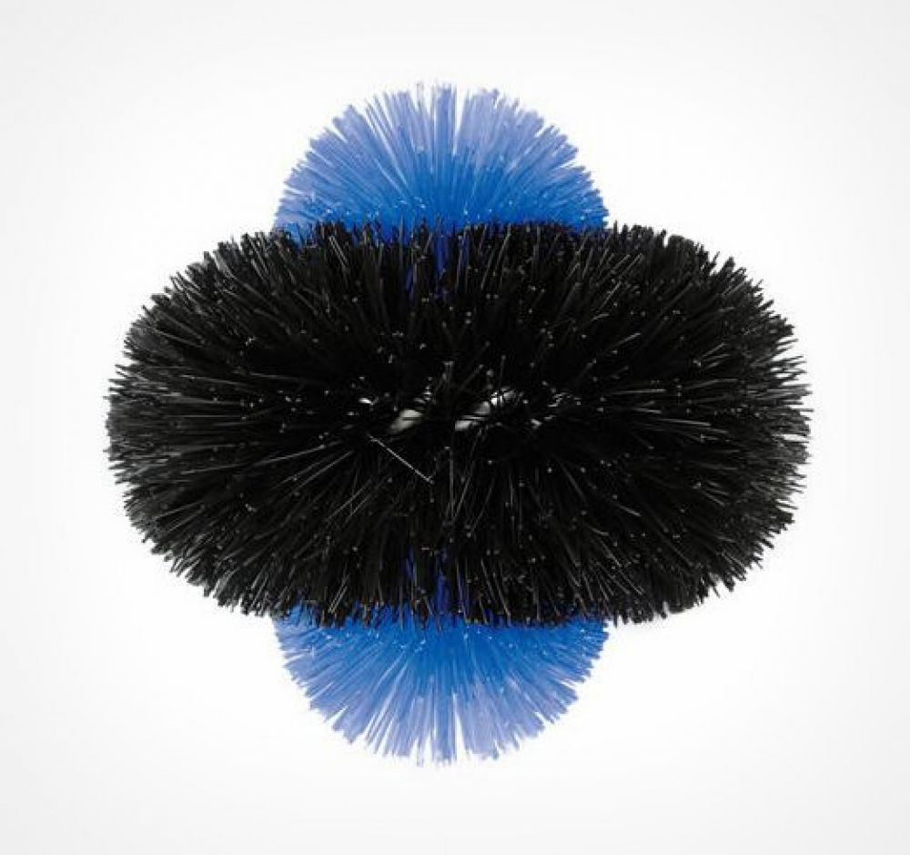 Twin-coil brush