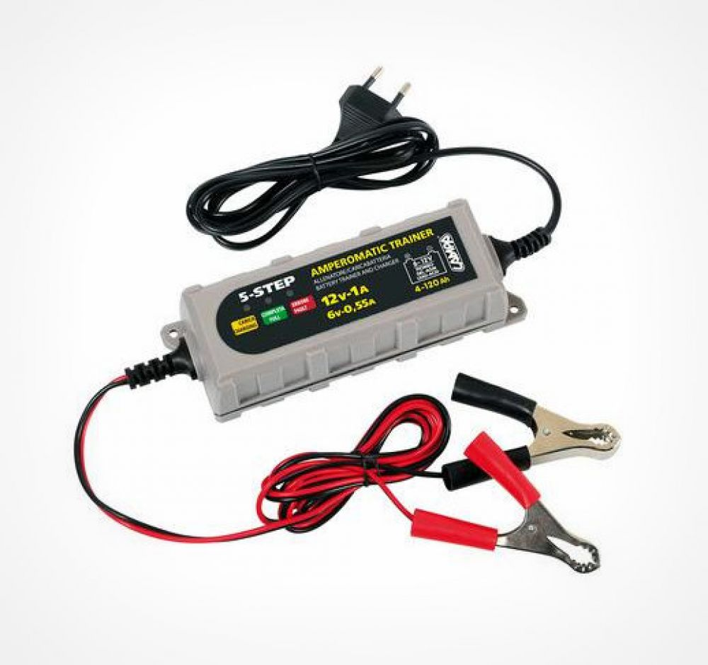 Amperomatic Trainer, intelligent battery charger
