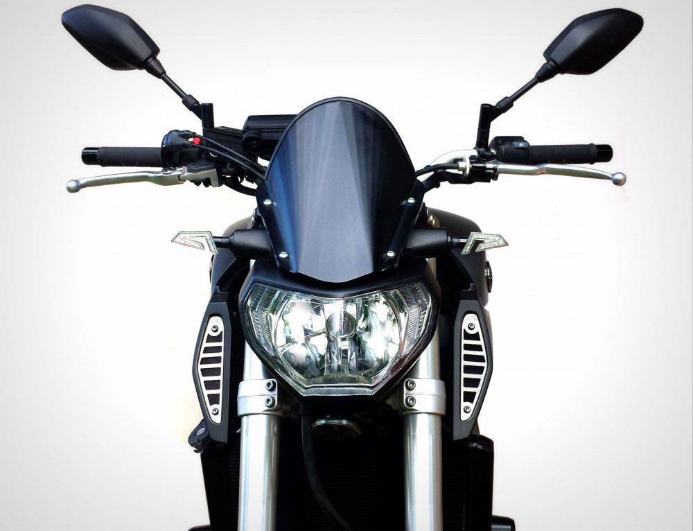 Yamaha MT-09 air intakes covers silver color