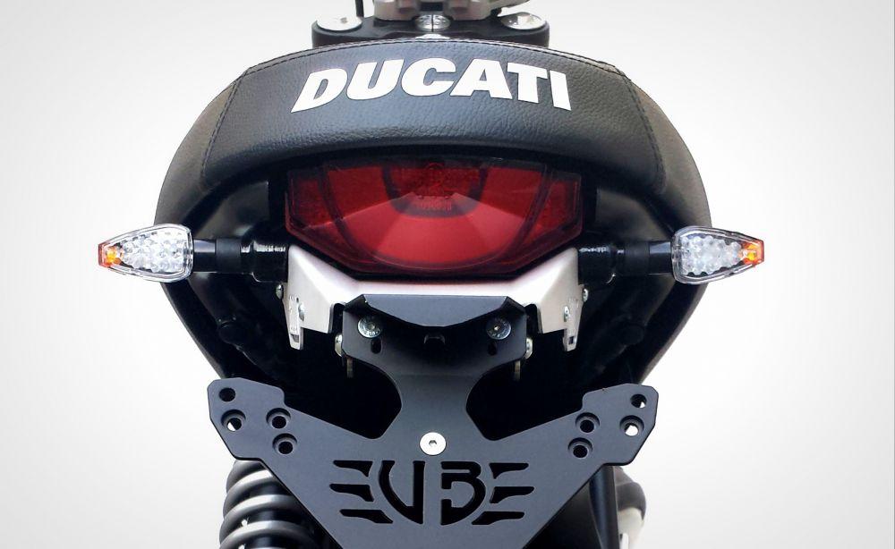 Ducati Scrambler 800 turn lights adapters for S Line license plate kit