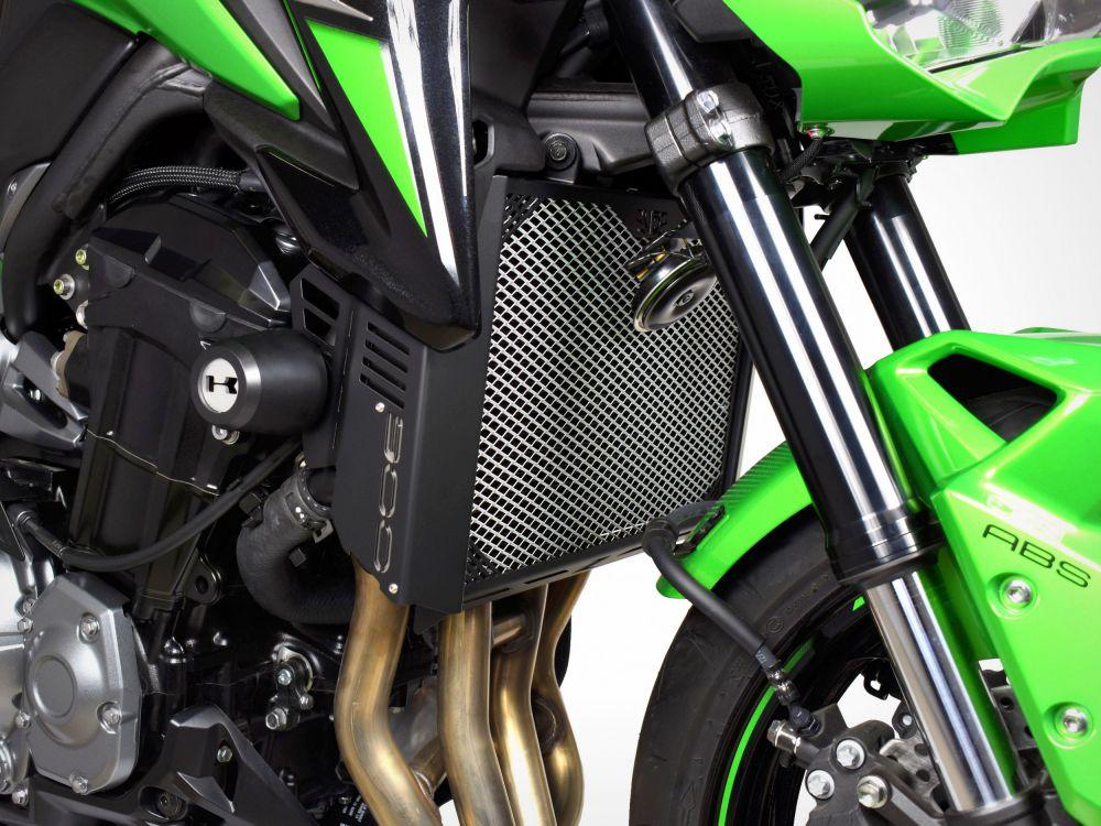 Kawasaki Z900 radiator guard with side covers