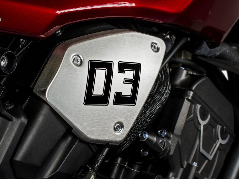 Numéros adhésifs avec gabarit pour l'application Honda CB1000R