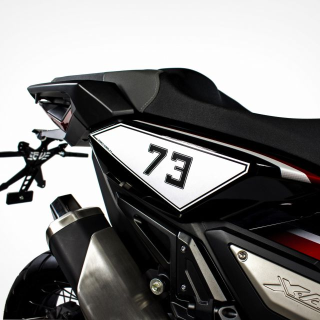 Honda X-ADV side adhesive number plate kit