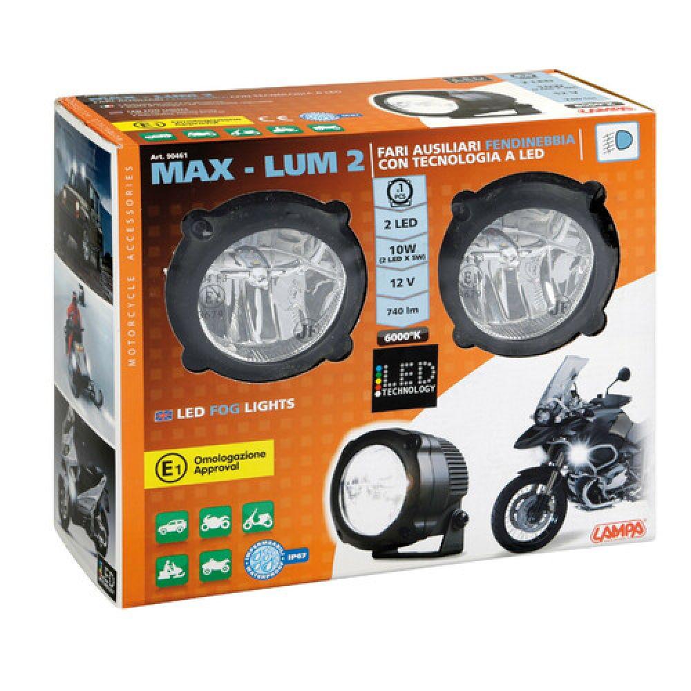 Max-Lum 2, coppia di fari fendinebbia a led, 12V