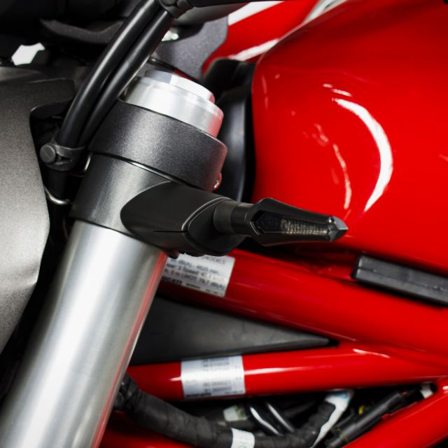 Ducati aftermarket corner lights adaptors for the front
