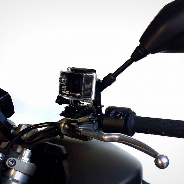 Supporto per Action Cam su retrovisore