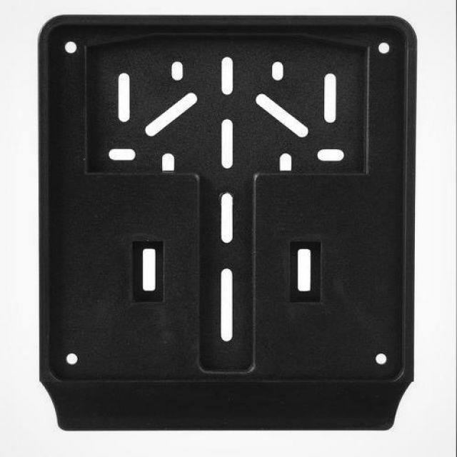 Universal plastic flat license plate holder