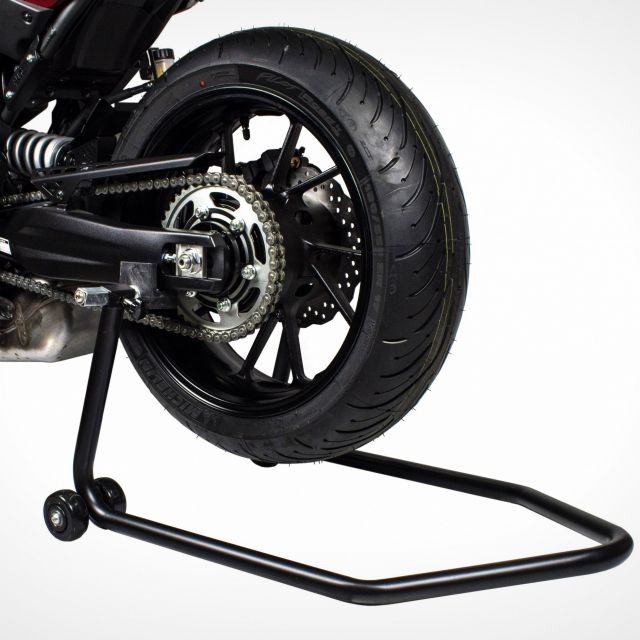 Stand-Up motorcycle rear stand with adaptors