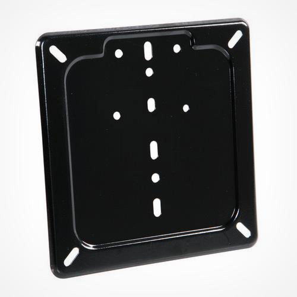 Base targa piatta universale in acciaio