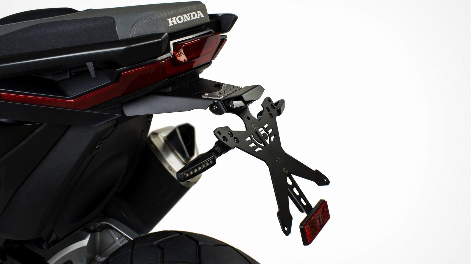 COMPATIBILE CON HONDA MSX 125 KIT PORTATARGA MOTO REGOLABILE UNIVERSALE NON SPECIFICO+4 FRECCE A LAMPADINA+LUCE TARGA TUTTO OMOLOGATO OMOLOGATO