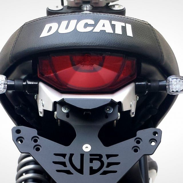Ducati Scrambler 800 turn lights adapters for S Line license plate kit